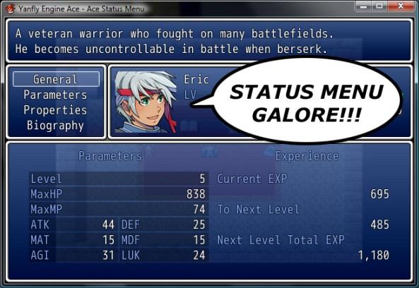 Ace Status Menu Asm-01