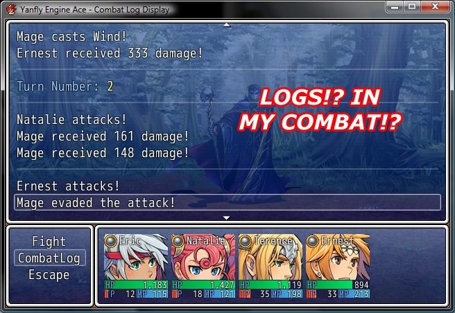 Rpg Maker Vx Ace Using Uncommon Fonts: Combat Log Display :: Rpgmaker.net