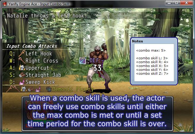 Yanfly Engine Ace - Input Combo Skills :: rpgmaker net