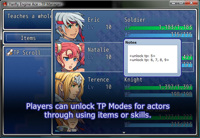 Yanfly Engine Ace - TP Manager :: rpgmaker net