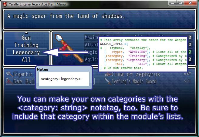 Yanfly Engine Ace - Ace Item Menu :: rpgmaker net