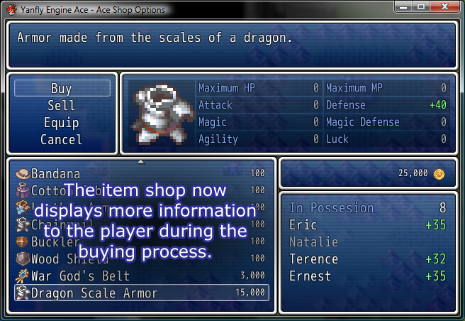 A Custom Menu Hud Script: Ace Shop Options